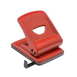 5 Star Office Punch Metal 2-Hole Capacity 40x 80gsm Red