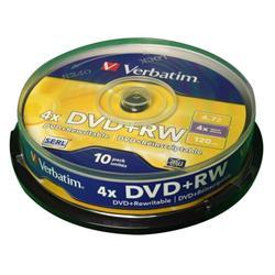 Verbatim DVD+RW Spindle Ref 43488 (Pack 10)