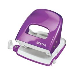 Leitz NeXXt WOW Hole Punch 3mm 30 Sheet Purple Ref50081062