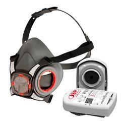JSP Force8 Half Mask Twin Cartridge 4-point Harness P3 Ref BHT0A3-0L5-N00