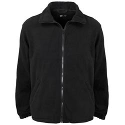 Supertouch Basic Fleece Jacket with Elasticated Cuffs and Full Zip Front Extra Large Black Ref 59074