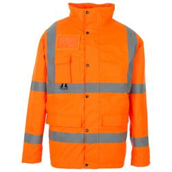Supertouch High Visibility Breathable Jacket with 2 Band & Brace Large Orange Ref 35B83