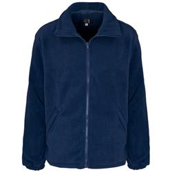 Supertouch Basic Fleece Jacket with Elasticated Cuffs and Full Zip Front Large Navy Ref 59093
