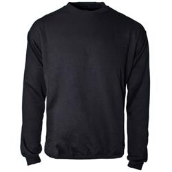 Supertouch Sweatshirt Polyester/Cotton Fabric with Crew Neck Small Black Ref 56671