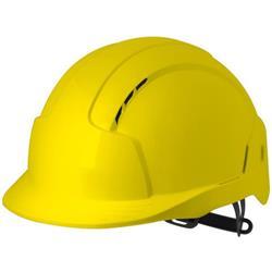 JSP EVOLite CR2 Safety Helmet ABS 6-point Terylene Harness EN397 Standard Yellow Ref AJB160-000-200