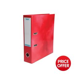 Elba Lever Arch File Laminated Gloss Finish 70mm Capacity A4 Red Ref 400021004 - 5 for 4