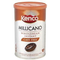 Kenco Millicano Coffee Wholebean Instant Caffeine Free [Decaff] 100g Ref 643123