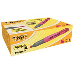 Bic Grip Pen-shaped Highlighter Extra Large Pink Ref 891397 [Pack 10]