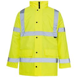 Supertouch High Visibility Standard Parka with 2-Way Zip Fastening Large Yellow Ref 35423