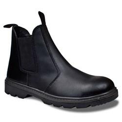 Supertouch Dealer Boot Leather Pull-On Design with Safety Toecap Size 9 Black Ref 93274