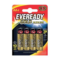 Eveready Gold Alkaline Batteries AA/LR6 Ref 635267 [Pack 4]