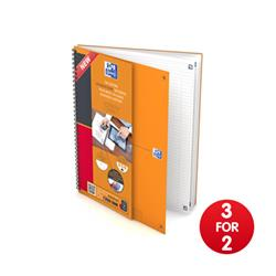 Oxford International Connect Wirebound Notebook A4 Ref 400055726 - 3 for 2