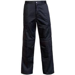Supertouch Combat Trousers Polyester Cotton Multiple Velcro Pockets Tall Black 32inch Ref 18KA3