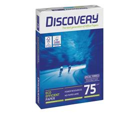 Discovery Copier Paper Ream-Wrapped 75gsm A4 White Ref DIS0750073 - 5 x 500 Sheets
