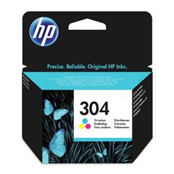 Hewlett Packard [HP] No.304 Original Ink Cartridge 100pages Tri-Colour Ref N9K05AE