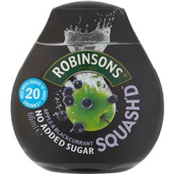 Robinsons Squash'D No Added Sugar 66ml Apple & Blackcurrant Ref 0402041 [Pack 6]