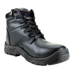 Supertouch Toe Lite Boot Leather with Composite Midsole Safety Toecap Metal Free Size 8 Black Ref 90173