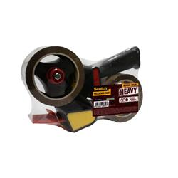 Scotch Tape Dispenser Plus 2 x Heavy Packaging Tape Low Noise 50mmx66m Ref HV.5066.R2D.B.
