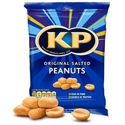 KP Original Salted Peanuts 50g Carton Ref 38850 [Pack 24]