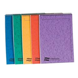 Europa Notebook Twinwire Headbound Ruled 90gsm 120pp Micro-perforated A4 Assorted Ref 4870Z [Pack 10]