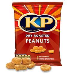 KP Dry Roast Peanuts 50g Carton Ref 38519 [Pack 24]
