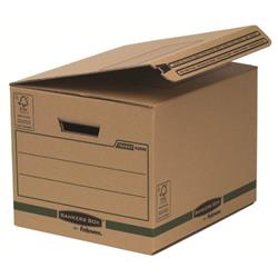 Fellowes Bankers Box Reusable Small 340x293x396mm Brown/Black Ref 6204601 [Pack 10]