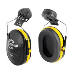 JSP InterGP Helmet Mounted Ear Defenders Adjustable 25DB EN 352-3 Black/Yellow Ref AEK010-005-300