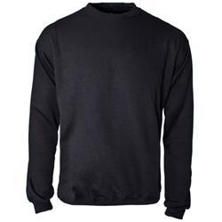 Supertouch Sweatshirt Polyester/Cotton Fabric with Crew Neck Medium Black Ref 56672