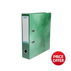 Elba Lever Arch File Laminated Gloss Finish 70mm Capacity A4 Green Ref 400021005 - 5 for 4