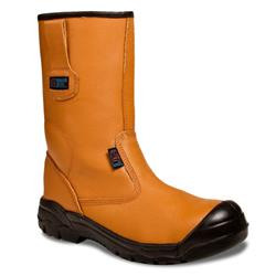 Supertouch Rigger Boot Plus Leather with Rubber Toecap Size 8 Tan Ref 90513
