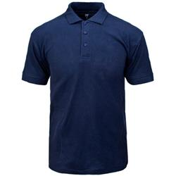 Supertouch Polo Shirt Classic Polycotton Large Navy Ref 56CN3