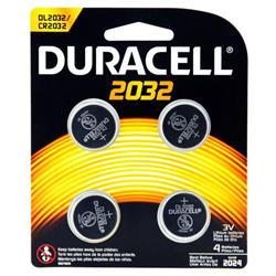 Duracell CR2032 Lithium coin Battery Silver Ref 81575811 [Pack 4]