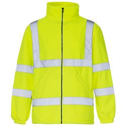 Supertouch High Visibility Micro Fleece Jacket Polyester with Zip Fastening Medium Yellow Ref 38042
