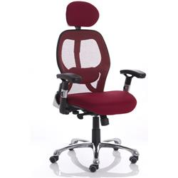 Sanderson Executive Chair Red  Seat With Mesh Back With Arms Ref EX000182