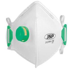JSP Disposable Mask Valved Fold-flat FFP1 Class 1 EN149:2001 & A1:2009 Standard Ref BEB110-101-000
