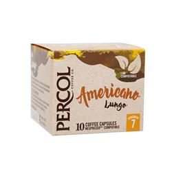 Percol Americano Lungo Capsules Coffee Strength 7 Ref A07980 [Pack 10]