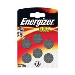 Energizer Lithium Battery CR2032 3V Ref E300303700 [Pack 6]
