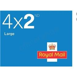 Royal Mail Second Class Large Letter Stamps [25 x Book of 4]