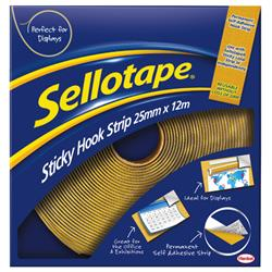 Sellotape Removable Hook Strip 25mm x 12m - 3 for 2