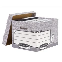 Bankers Box by Fellowes System Standard Storage Box Foolscap W333xD390xH285mm Ref 00810-FF [Pack 10] - 2 for 1