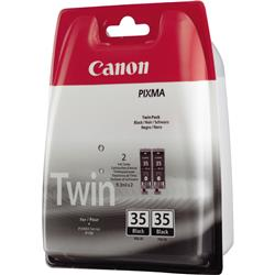 Canon Twin Pack PGI-35BK (Black) - (Yield 191 Pages) Ink Cartridge (1 x Set of 2)