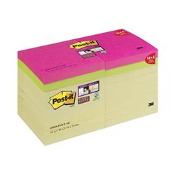 Post-it Super Sticky Yellow 76x76 Col Pad Ref 654SS-P14CY&4C [Pack 14 + 4 Free]
