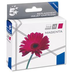 5 Star Office Remanufactured Inkjet Cartridge Capacity 3.3ml Magenta [Epson C13T18034010 Alternative]