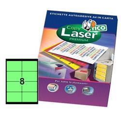Foto Etichette Copy Laser Premium 99,1x67,7 mm 8 et/ff 560 pz Etichette fluorescenti