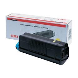 Oki C5400 Laser Toner Cartridge Page Life 3000pp Yellow Ref 42804505