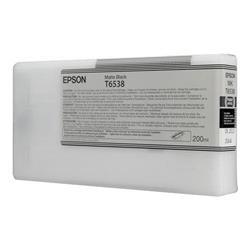 Epson T6538 UltraChrome K3 Ink Cartridge - 200ml (Matte Black) for Epson Stylus Pro 4900