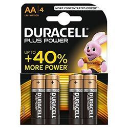 Pile Duracell Plus - stilo AA - conf. 4