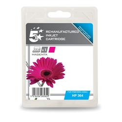 5 Star Office Remanufactured Inkjet Cartridge Page Life 300pp Magenta [HP No. 364 CB319EE Alternative]