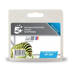 5 Star Office Remanufactured Inkjet Cartridge Page Life 165pp Colour [HP No. 300 CC463EE Alternative]