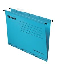 Esselte Classic Suspension File Reinforced Foolscap File Blue Ref 90334 (Pack 25)